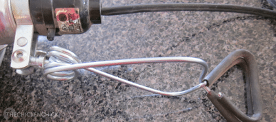The heat lamp clamp is easily knocked free from whatever it is attached to.