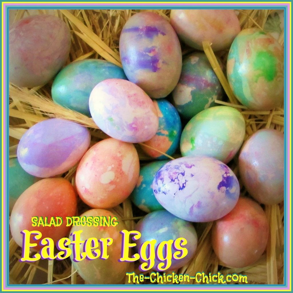 Salad Dressing Easter Eggs: Simple, Marbled Beauty