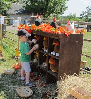 I think I'll bring real chickens next year to give the town's kids the full experience.