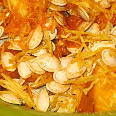 Pumpkin seeds, while tasty treats for chickens, have NOT been proven to be a natural de-wormer in chickens.
