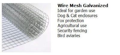 Galvanized steel, wire mesh hardware cloth