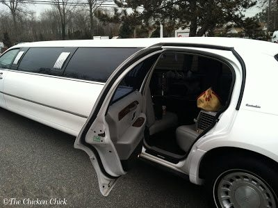On Valentine's Day, 2012, I drove with my husband to the limo company with Max and (St)Eve.