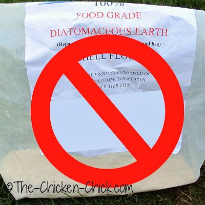 DON'T use diatomaceous earth inside a coop while employing the deep litter method. DE is a drying agent- it will dry out the litter and kill the good microorganisms necessary for composting.