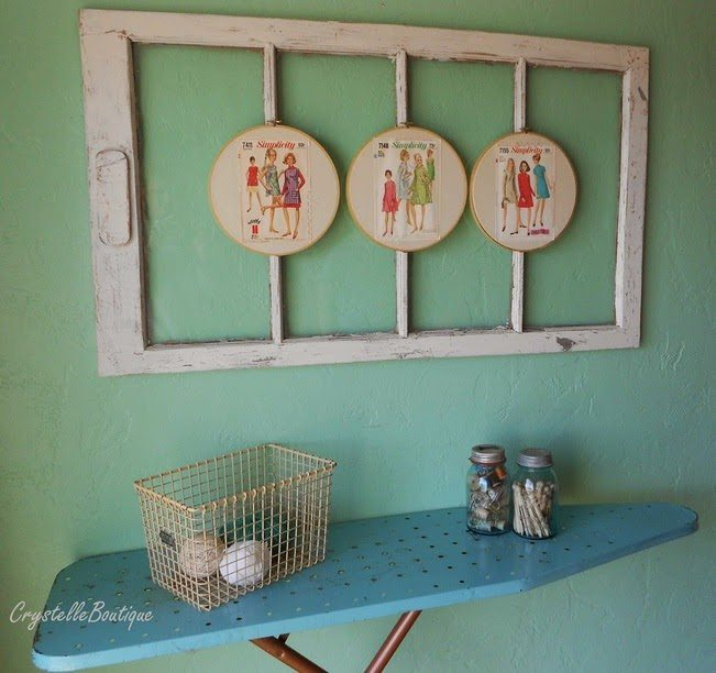 Vintage Sewing Patterns Display, shared by Crystelle Boutique