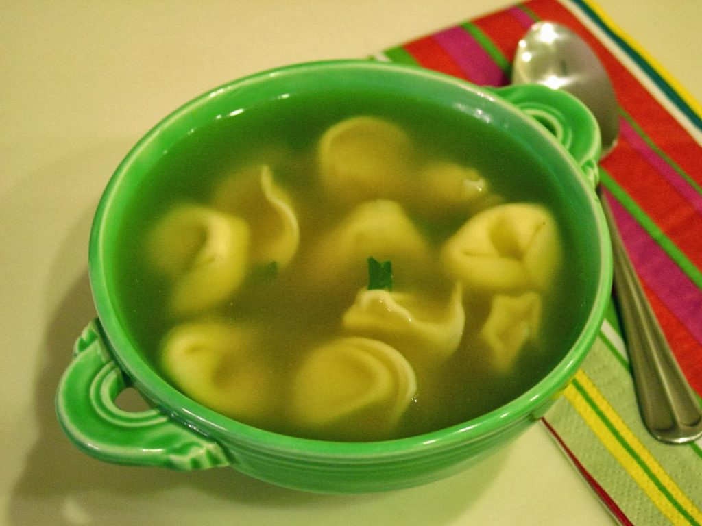 Cheese tortellini soup with Gremolatta shared by Soup Spice Everything Nice