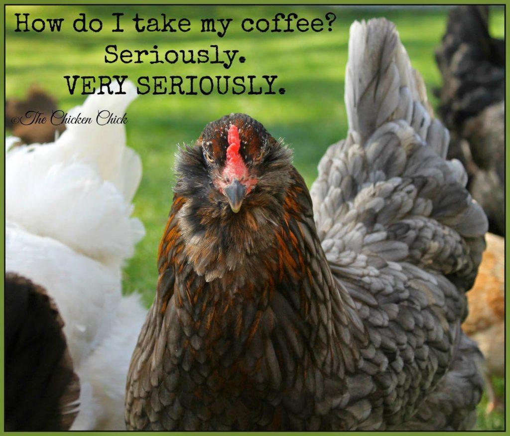 How do I take my coffee? Seriously. Very SERIOUSLY.