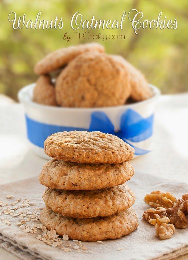Oatmeal Walnut Cookies, shared by Titi Crafty