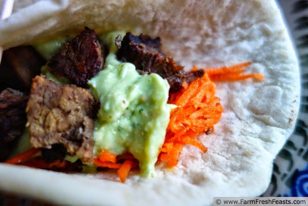 Greek Stew Meat Tacos, shared by Farm Fresh Feasts