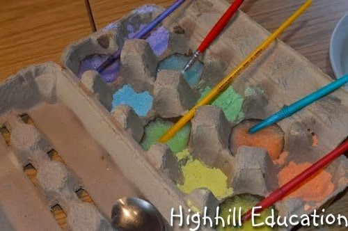 Egg Yolk Painting, shared by High Hill Education