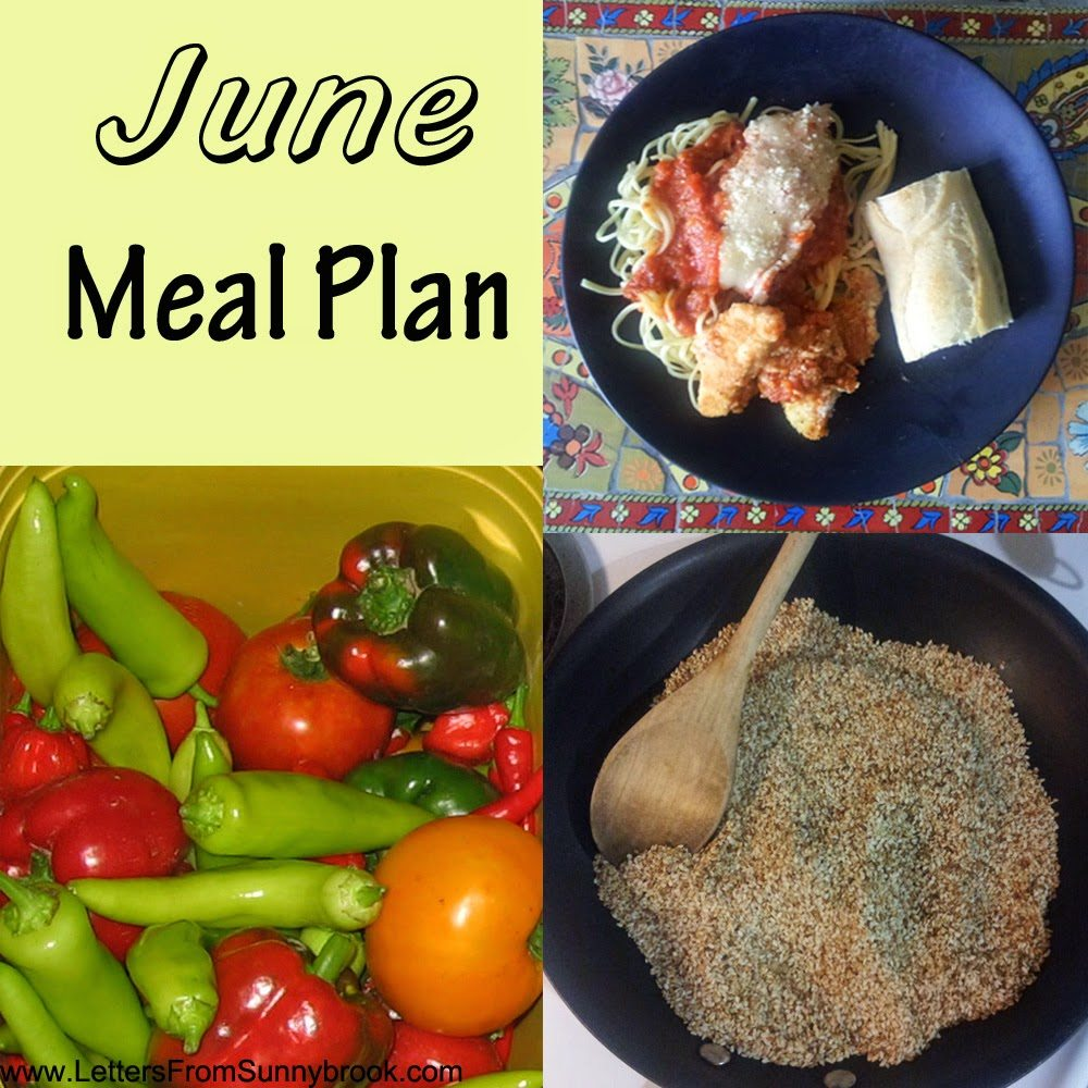 June Meal Plan, shared by Letters from Sunnybrook