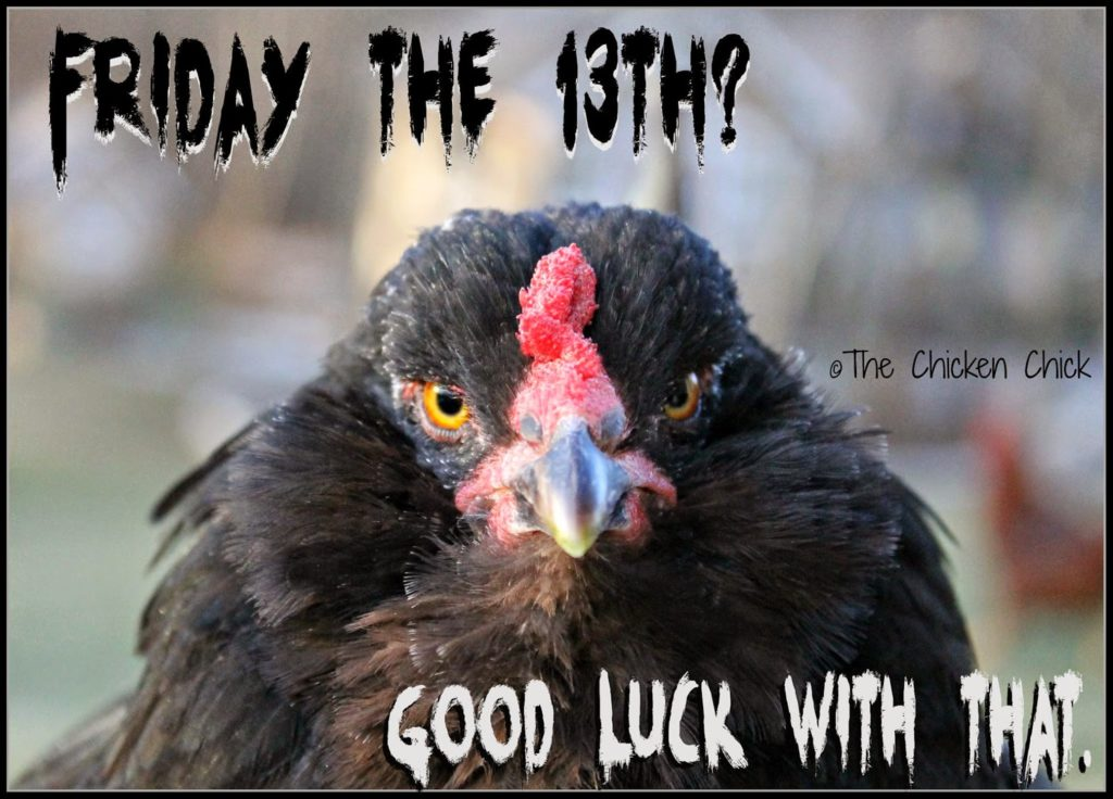 Friday the 13th? Good luck with THAT.