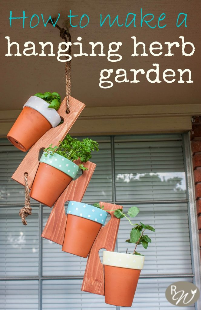 How to Make a Hanging Herb Garden, shared by The Rustic Willow