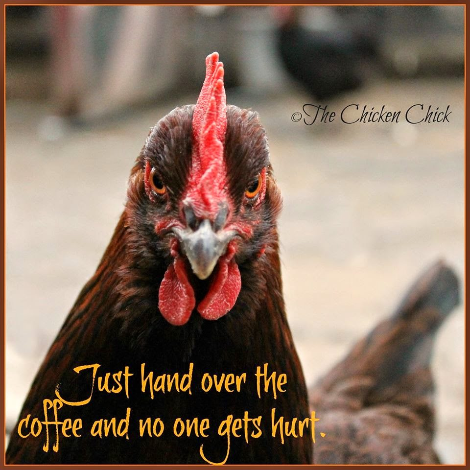 Just hand over the coffee and no one gets hurt.