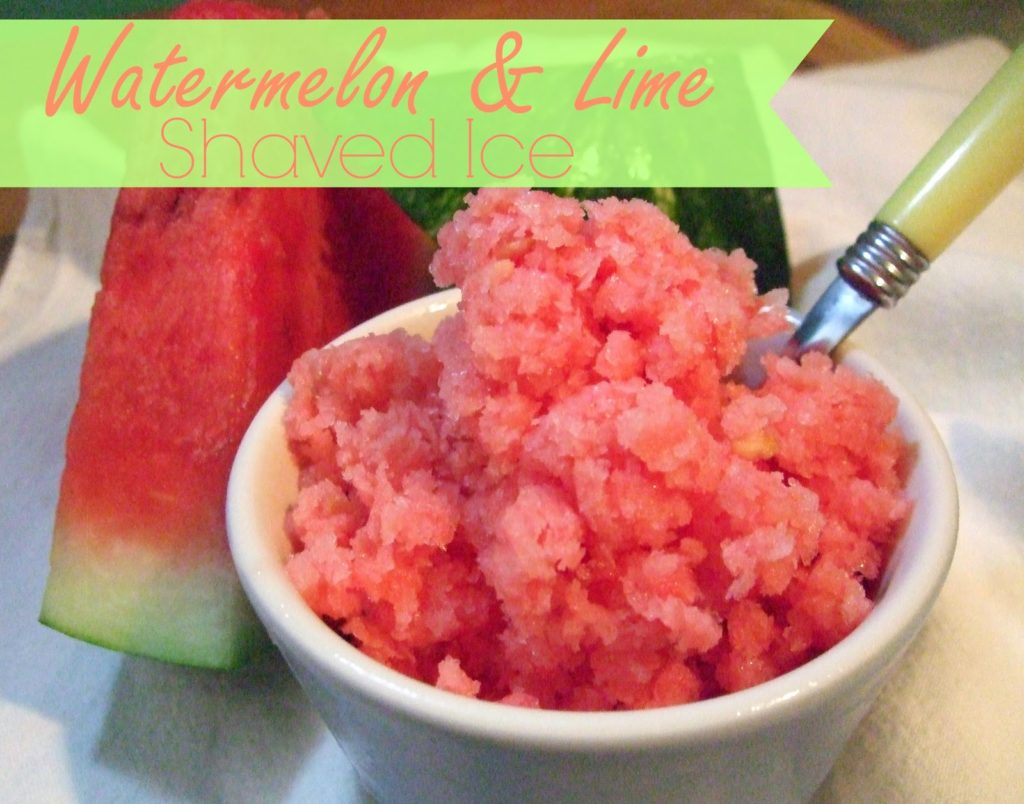 Watermelon & Lime Shaved Ice, shared by We're Farm From Normal