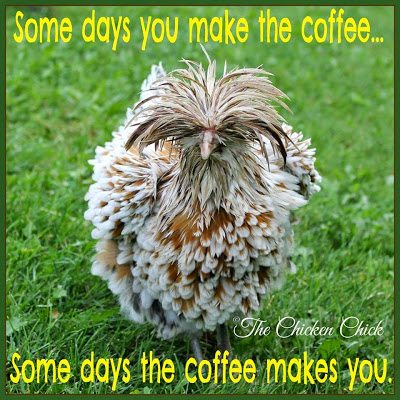 Some days you make the coffee, some days the coffee makes you.