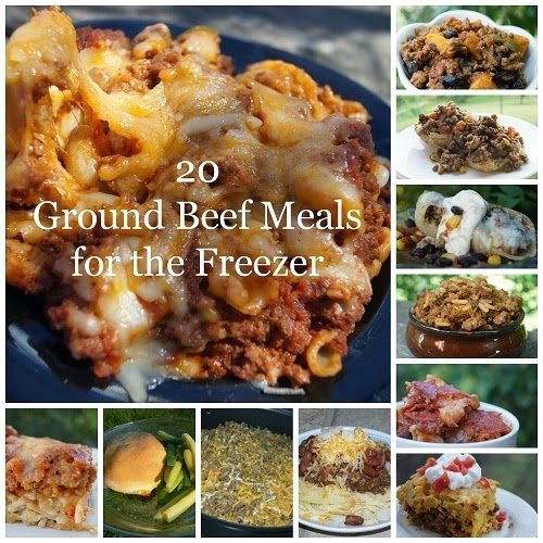 20 Ground Beef Meals for the Freezer, shared by In the Kitchen with Jenny