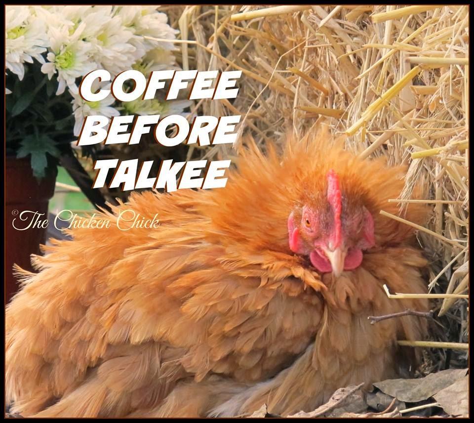 Coffee before talkee.