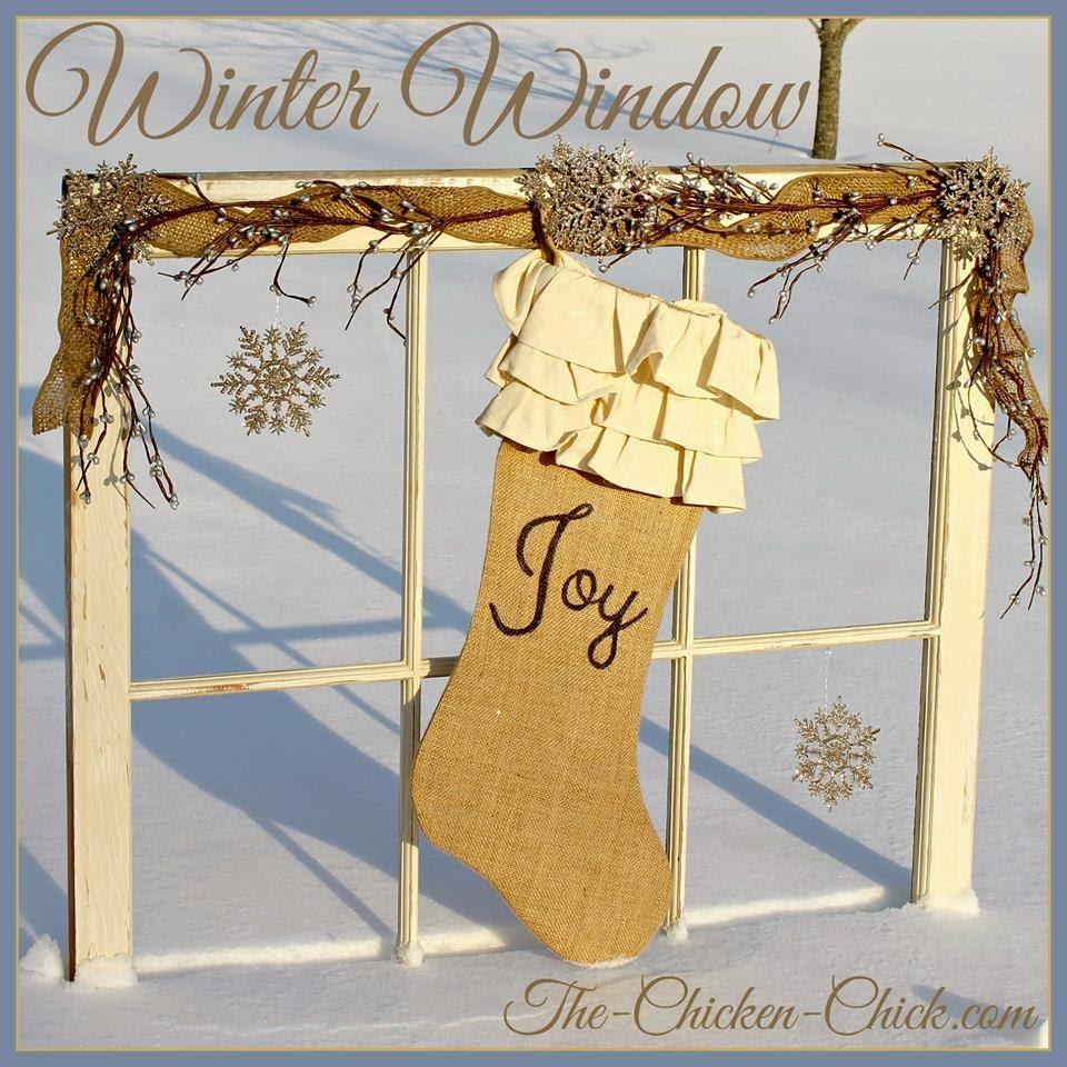 Upcycled Winter Window