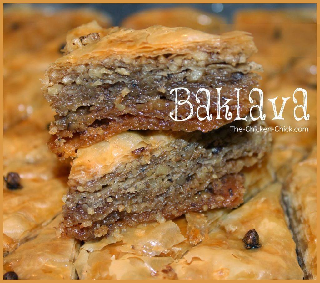 baklava recipe via The Chicken Chick®