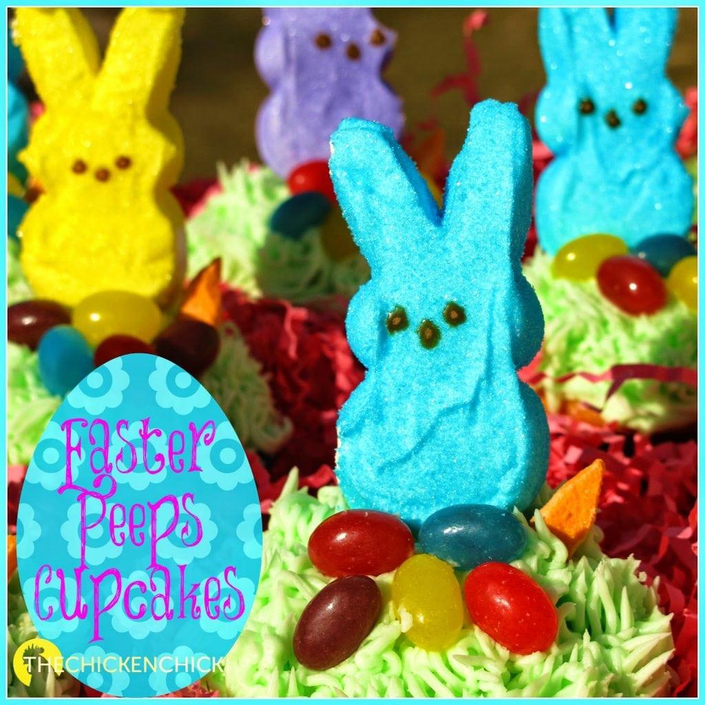 DIY Easter Peeps Cupcakes