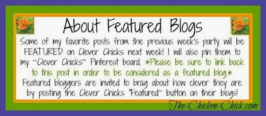 About Featured Blogs at the Clever Chicks Blog Hop