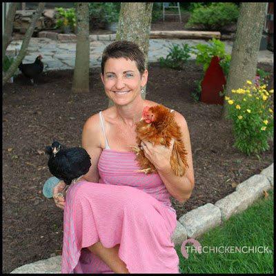 Petey,(Araucana) me & Rachel (bantam frizzled Cochin).