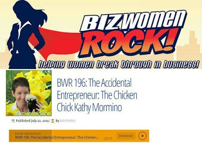 If you've ever wondered where The Chicken Chick came from, the mystery is revealed in my newest interview on Biz Women Rock!