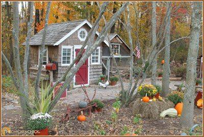 Autumn Chicken Coop via The Chicken Chick®