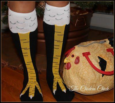 Chicken legs socks on Amazon