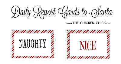 Elf on the Shelf Naughty or Nice Report Cards to Santa FREE PRINTABLES!