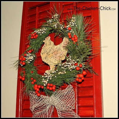 Holiday Shutter via The Chicken Chick®