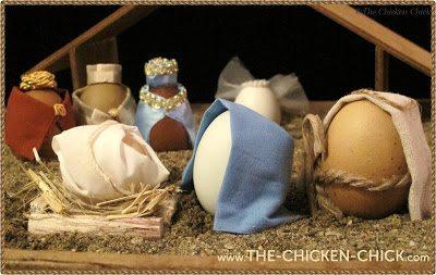 Blown Egg Nativity via The Chicken Chick®
