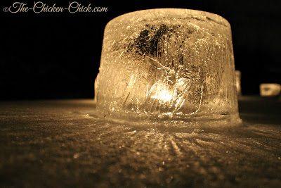 Winter Ice Lanterns via The Chicken Chick®