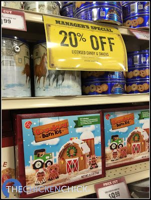 Gingerbread barn kit from Tractor Supply Company