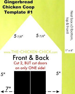 Gingerbread chicken coop template #1 of 3