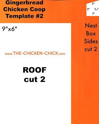 Gingerbread chicken coop template #2 of 3