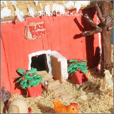 Gingerbread Chicken Coop ramp
