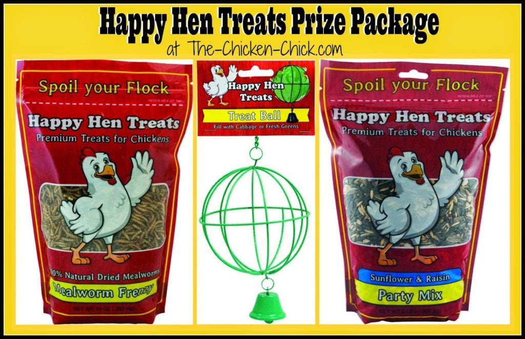 Happy Hen Treats Prize Package Giveaway at The Chicken Chick®