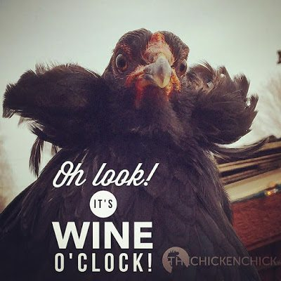 Oh LOOK! It's wine o'clock!