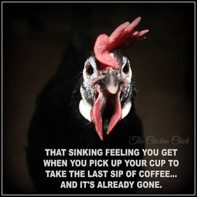 That sinking feeling you get when you pick up your cup to take the last sip of coffee...and it's already gone.