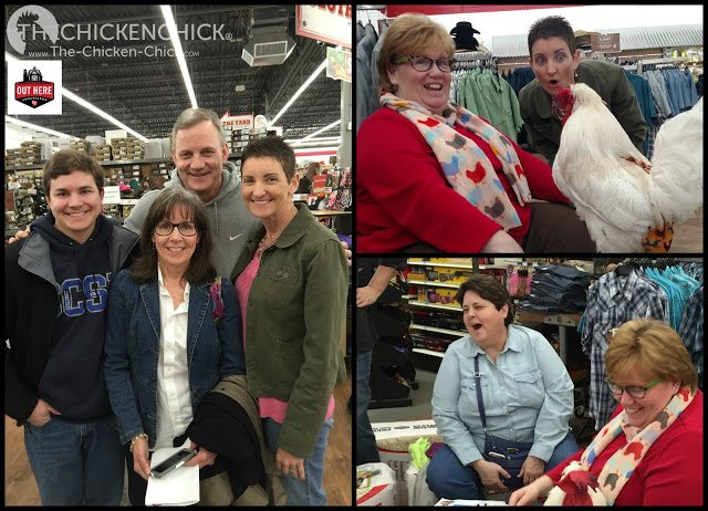 The Chicken Chick, Kathy Mormino, speaking to a group during Chick Days at a Tractor Supply Company store in Vernon, CT.