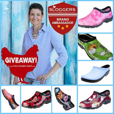 Sloggers garden shoes GIVEAWAY at The Chicken Chick®