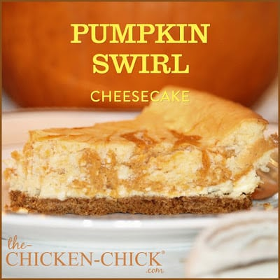 'Tis the season for all things pumpkin and if you're a cheesecake lover, this is the recipe for happiness! This graham cracker crumb, pumpkin swirl cheesecake is a decadent dessert that's sure to become a favorite in any season!