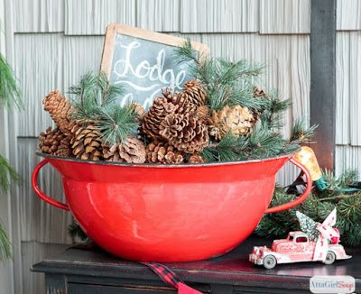 Vintage Christmas Decor, shared by Atta Girl Says at The Chicken Chick's Clever Chicks Blog Hop