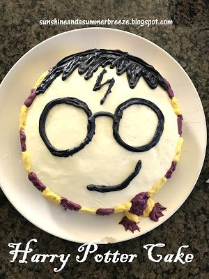 Harry Potter Cake, shared by Sunshine and a Summer Breeze at The Chicken Chick's Clever Chicks Blog Hop